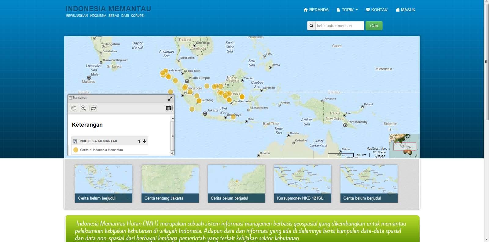 16 Forest monitoring tool of Indonesia s Corruption Eradication Commission Indonesia