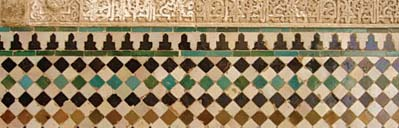 Worksheet: Tessellating tiles This image shows a section of wall from the Alhambra that uses regular tessellation. (Keep in mind that shape, not colour, is important.