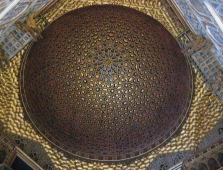 Left: Dome of a mosque in Spain. Photo Eeqmal Hassim. Below: Dome of the Rock Photo courtesy of Photos8.