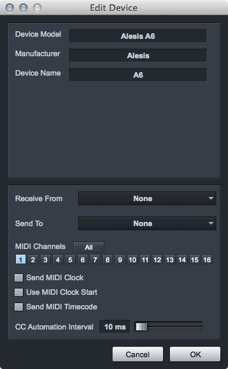 4.7.6 MIDI CC Transmit Rate (MIDI Controller Automation) You can now vary