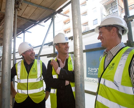 On-site Green Canteen during construction Kevin McCloud visits One Brighton and commented: All urban projects must follow this exemplar.