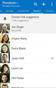 The following illustration show s your Contacts app layout and describes the various features. Item GROUPS tab Show contact groups. FAVORITES tab Show all contacts.