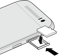 4. Pull the microsd card tray out, and place the microsd card into the tray. 5. Insert the microsd card tray back into the slot. 6. Turn on the phone.