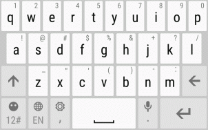 Tap the keys on the onscreen keyboard to enter letters and numbers, as well as punctuation marks and symbols. Tap to enter an uppercase letter. Tap twice to turn on caps lock.