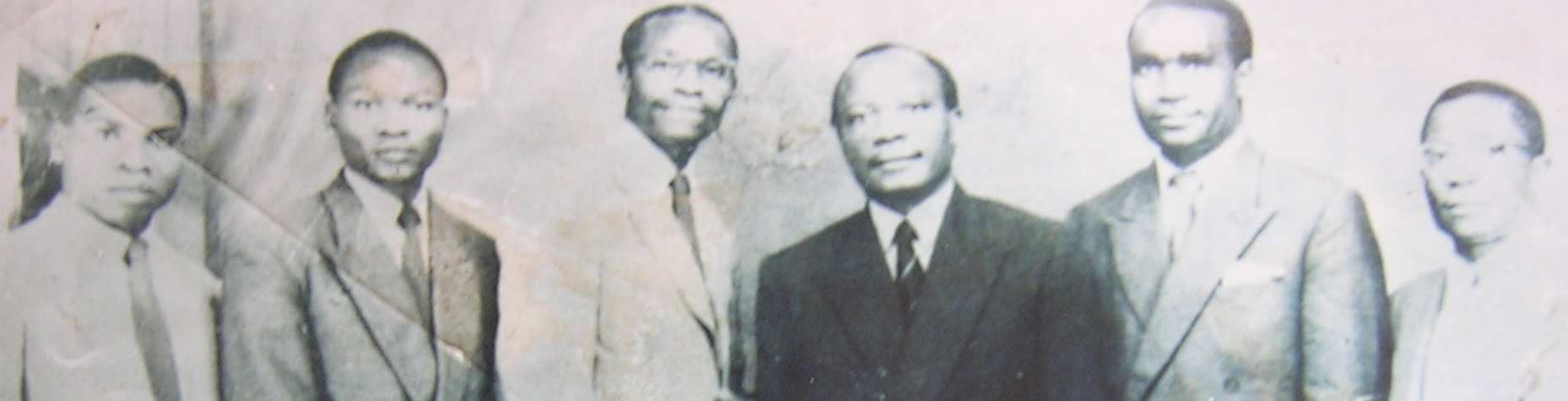 THE ROOTS OF AUTHORITARIANISM 19 Photo 2 African National Congress Officials, 1956. Left to right: R.C. Kamanga (Vice-Treasurer), E.M. Liso (Vice-President), S.M. Kapwepwe (Treasurer-General), H.M. Nkumbula (National President), K.