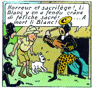 BRUNO LATOUR Tintin in Congo. Broken Fetiche / Hergé / Tintin au Congo / image from the comic / Hergé/Moulinsart, Brussels, 2002 ment of the hand.