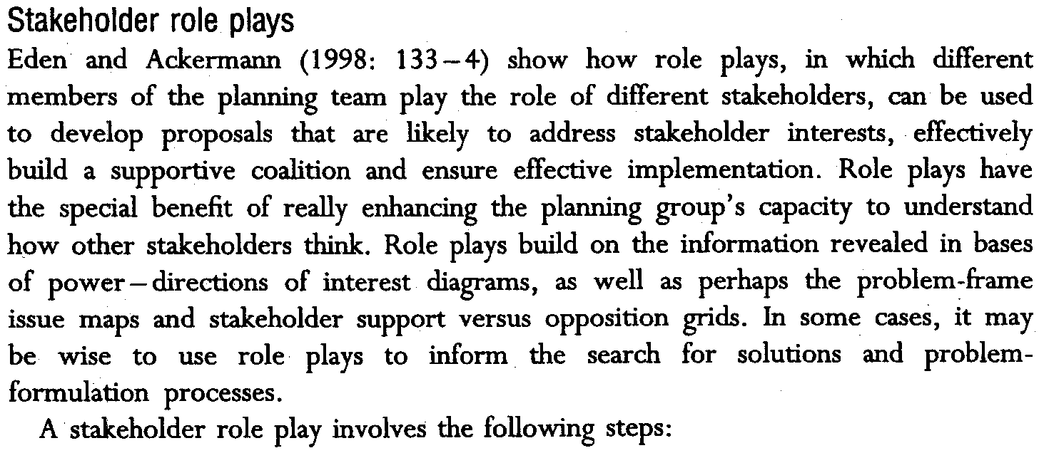 On the other hand, the literature on collaborative planning argues that a larger coalition probably should be pursued, since sustained implementation requires broad-scale support and the minimum