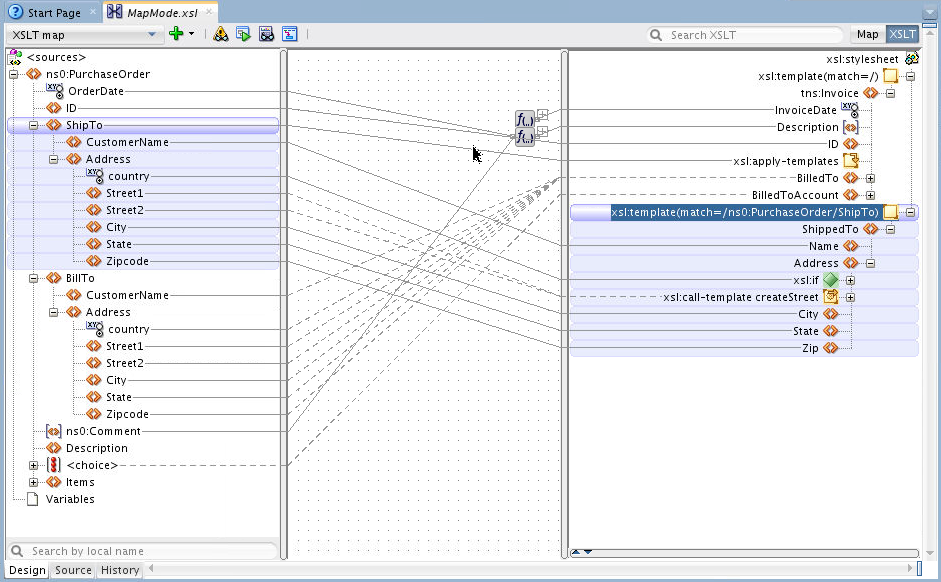 Figure 32: XSLT View The XSLT view is intended for the advanced user who would normally edit XSLT in source view.