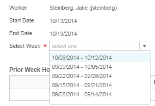 Auto-fill from Prior Week Method The Auto-fill from Prior Week method of time entry allows you to copy your hours worked from a prior week to the current week.