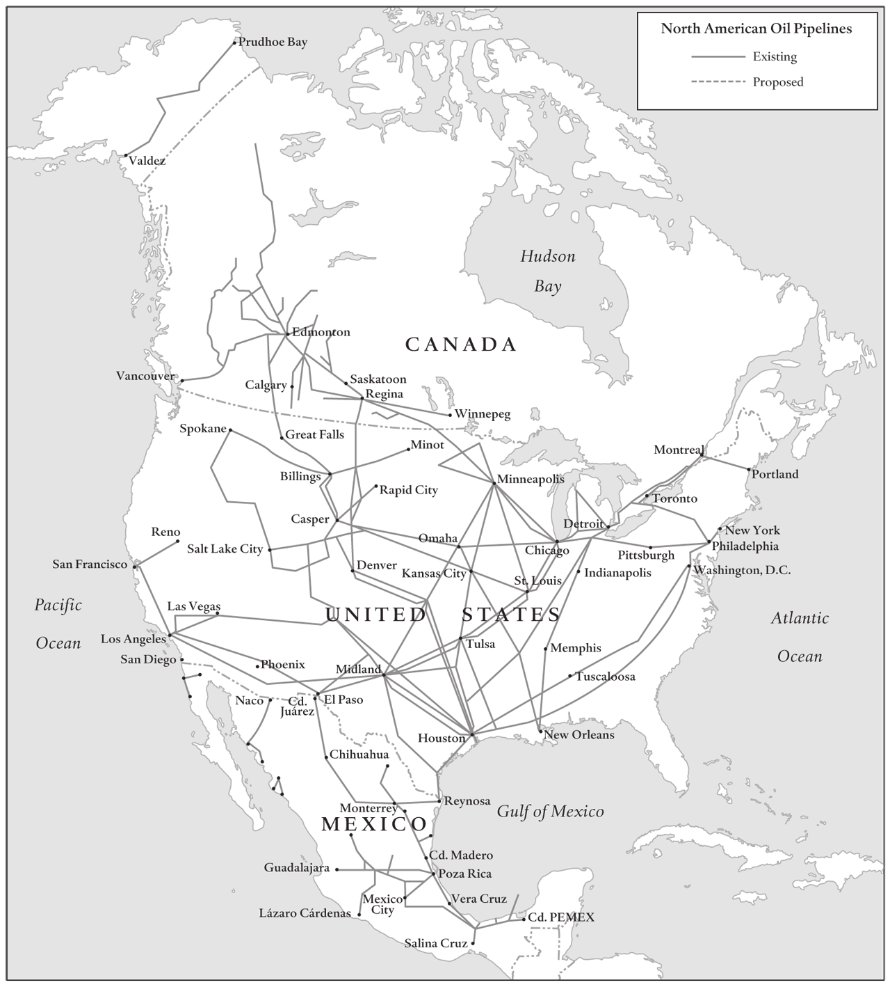 26 North America Figure 7: North American OIL Pipelines Sources: Canadian Energy Pipeline Association; Pemex; U.S. EIA; Canadian Association of Petroleum Producers.
