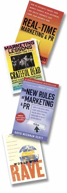 27 Books by David Meerman Scott Real-Time Marketing & PR: How to Instantly Engage Your Market, Connect with Customers, and Create Products that Grow Your Business Now Learn More Marketing Lessons