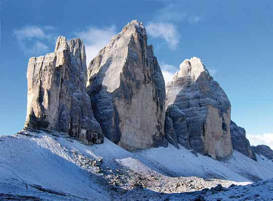 Compared to other mountains, the dolomites are brighter, more colorful, more monumental, and seem to be architecturally inspired.