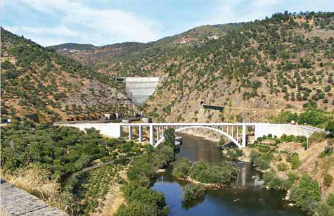 Artist view of dam and downstream site Electricidade de Portugal (EDP) is currently implementing an ambitious program to replace old thermal power plants with renewable energy sources.