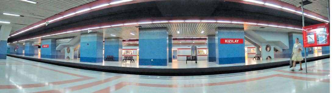 Ankara has an effective underground train network and modern mass transit systems. ANKARA METRO Metro Ankaray Hazırlık Aşamasında Subay Ev.