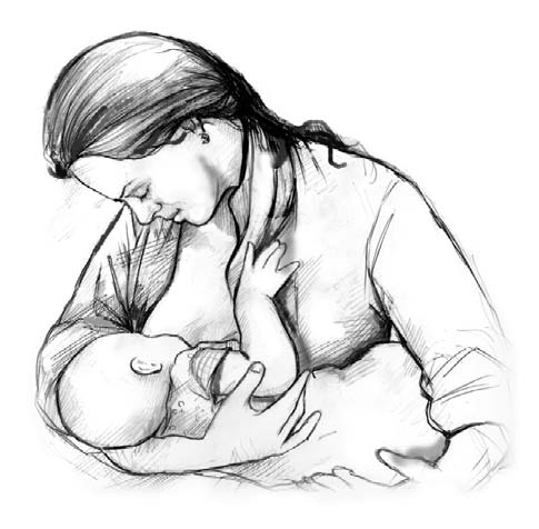 After Your Baby Arrives Breastfeeding You can give your baby a healthy start by breastfeeding.