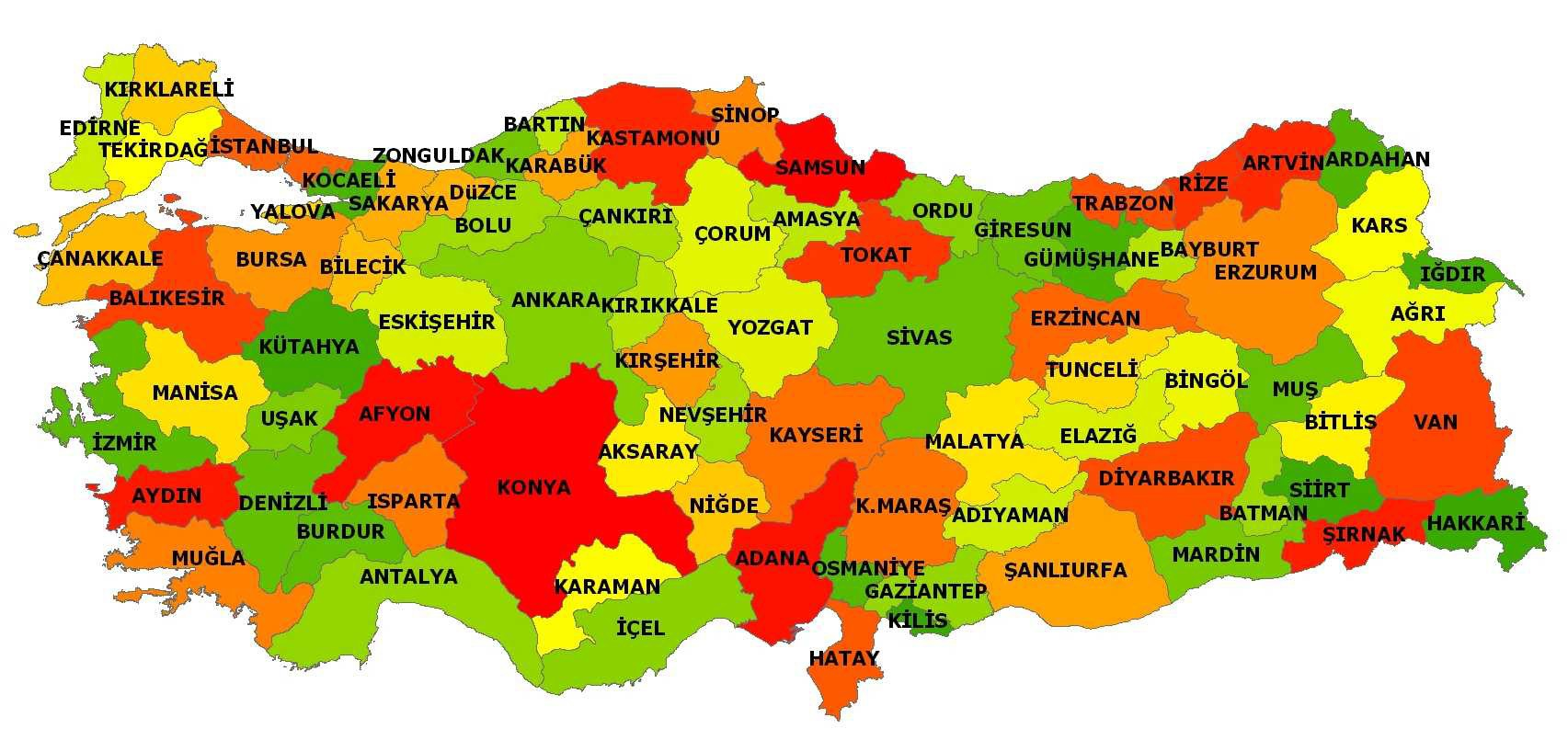 Turkey Population (2013) : 76 667 864 population growth rate (per mille) : 13,66