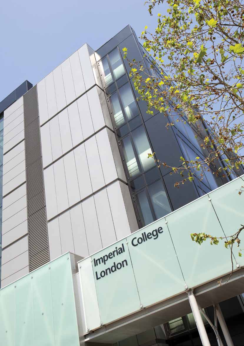 Estate developments Biomedical research facility A major new research facility at Imperial designed to expand and accelerate the translation of scientific discoveries into new ways of preventing,
