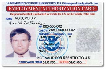 Employment Authorization Document (Form I-766) USCIS issues the Employment Authorization Document to aliens granted temporary employment authorization in the United