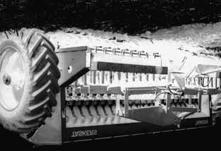In this case, the total vertical opener travel has been restricted by the use of spring tines that move largely horizontally (backwards) in response to increases in loading.