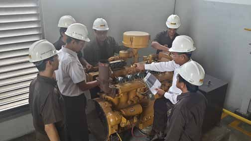 Training Resources Practice with Caterpillar G333 G333 (Gas Engine Mechanical 333) is used during Gas Engine Basic Training.