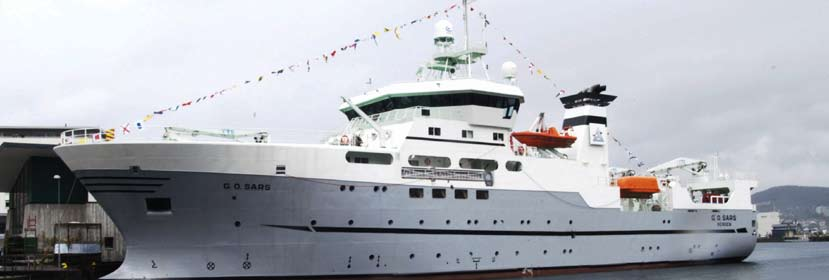 The research vessel G.O.Sars. The Government will consider the need for a new ice-class vessel for use in the High North. The Government will strengthen education and research in Svalbard.