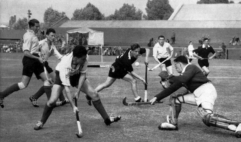 HOCKEY The late withdrawal of Holland from the Games reduced the number of teams participating in the hockey tournament to twelve. This withdrawal came as a great disappointment.