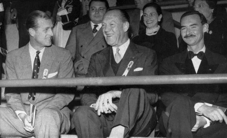 Front row. From left H.R.H. The Duke of Edinburgh, H.R.H. Prince Axel of Denmark and H.R.H. Prince Jean of Luxembourg.