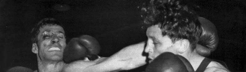 LIGHT WELTERWEIGHT (Up to 6. kg. 9 lb. oz. dr.) Nenci (left) defeated Roth after a hard second round fight. Previous Olympic Winner 9 C. Adkins.