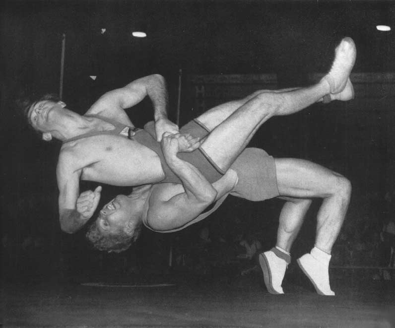 WRESTLING Jansson, winner of the Bronze Medal,