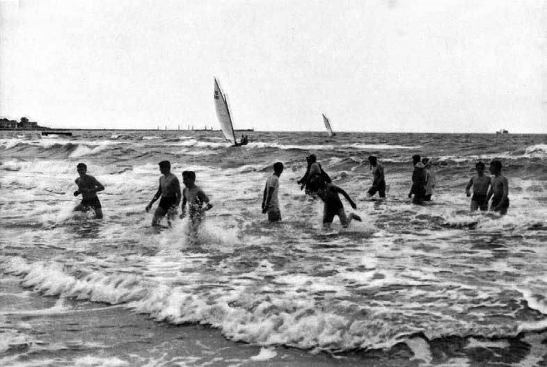 XVI OLYMPIAD In the. metres' class the Swedish yacht Rush V. (L. Thorn) sailed consistently throughout, securing three firsts, two seconds and one third.