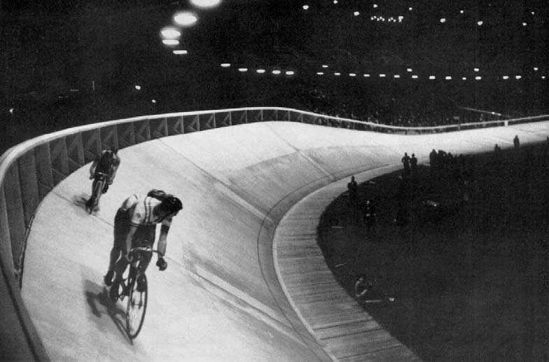 Night scene at the Velodrome..... 908 90 9 98 9 96 98 9,000 METRES TANDEM Previous Olympic Winners M. Schilles-A. Auffray H. E. Ryan-T. G. Lance J. Cugnot-L. Choury D. van Dijk-B. Leene M. Perrin-L.