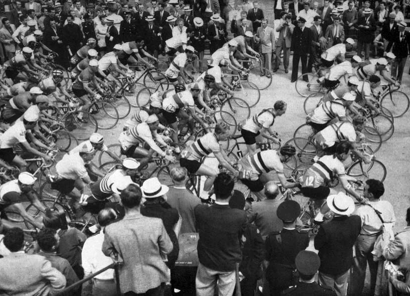The start of the road race.