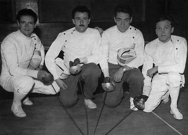 The French sabre team.