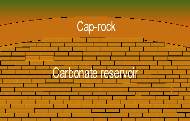Geological contexts and caprock composition Carbonate (limestone ( limestone) Sandstone Cap-rock composition: 40-70%: Carbonates 10-40%: