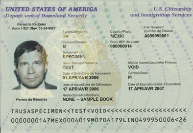 passport. The Reentry Permit guarantees him/her permission to reenter the U.S.