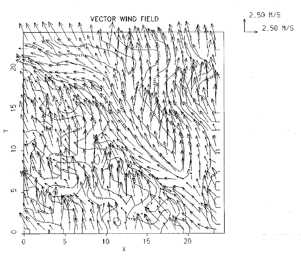 COST 710 WG 4 Wind Flow Models 17 flows related to small topographical features. These data are generally extended spatially in the interpolation phase.