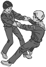 One-Legged Hand Wrestle: Hold your left ankle with your left hand. Take your friend s right hand. On the word Go, try to get him to let go of his foot or lose his balance.