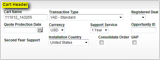 Oracle Partner Store HW & SW 1.1 Cart Header: Cart ID and Cart Name: OPS auto generates a unique cart ID and cart name. The Cart ID cannot be edited, while Cart Name can be edited by you.