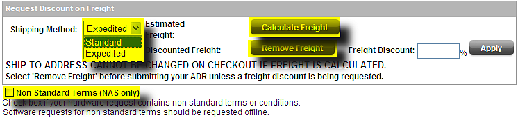 2.2. Discounted Freight Oracle Partner Store HW & SW For HW or combined HW/SW orders it is possible to request also additional discount on the freight charges.
