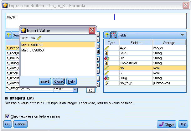 122 Chapter 7 Viewing or Selecting Values Field values can be viewed from a number of places in the system, including the Expression Builder, data audit reports, and when editing future values in a