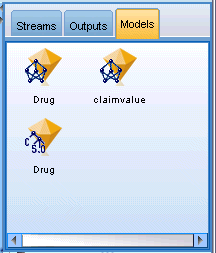 These models can be browsed directly from the Models tab or added to the stream in the canvas.