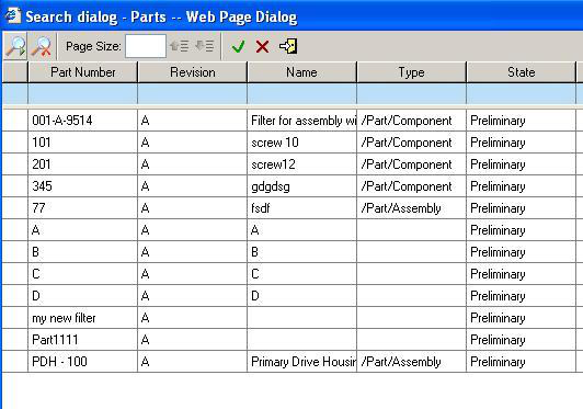be referencing certain parts. To attach a part to the project: 1. Open a project for edit. 2. Select the Parts tab. 3.
