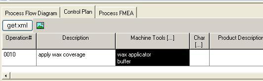 Quality Planning The Machine Tools Sub-dialog There is only one location in Innovator where the machine tools sub-dialog is utilized, and that is from the Control Plan tab of the Process Planner.