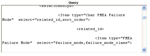 System Configuration a. In the query window, find the line that looks for the value of Failure Mode properties: b.