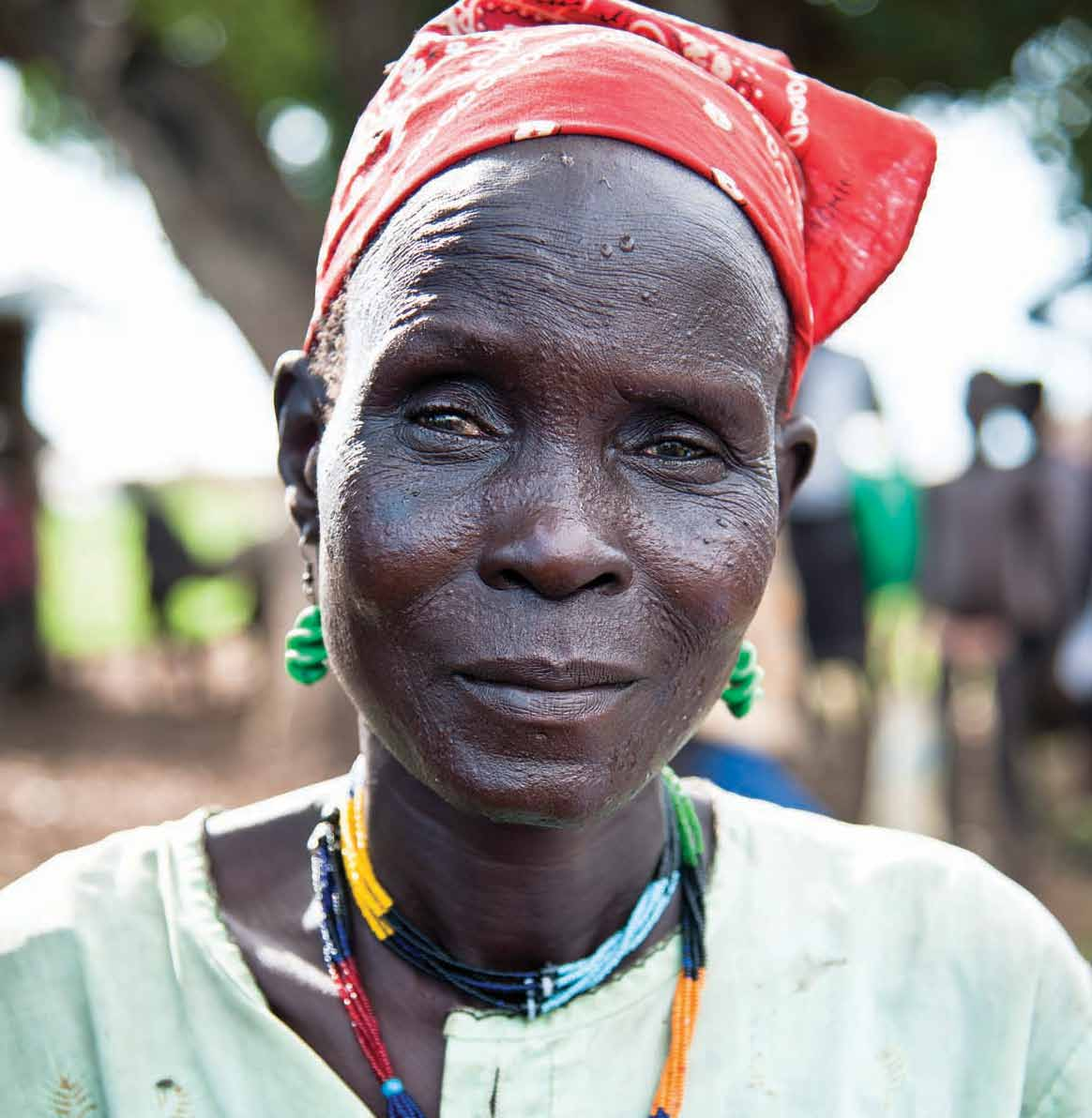 A South Sudanese refugee at the Leitchour camp in the Gambella region of Ethiopia, near the border with South Sudan.