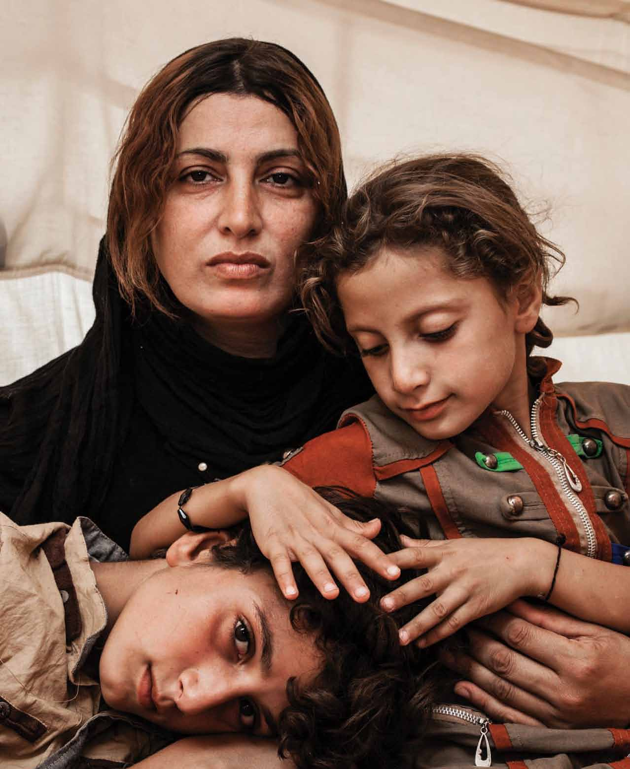 Amira s family fled their village in Mosul, Iraq in June 2014.