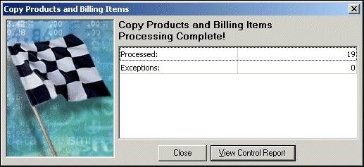 If you choose Selected, the Selected screen appears so you can select the billing items to copy. Click OK and you return to the Filters tab. The filters appear in the Selected Filters column. 8.