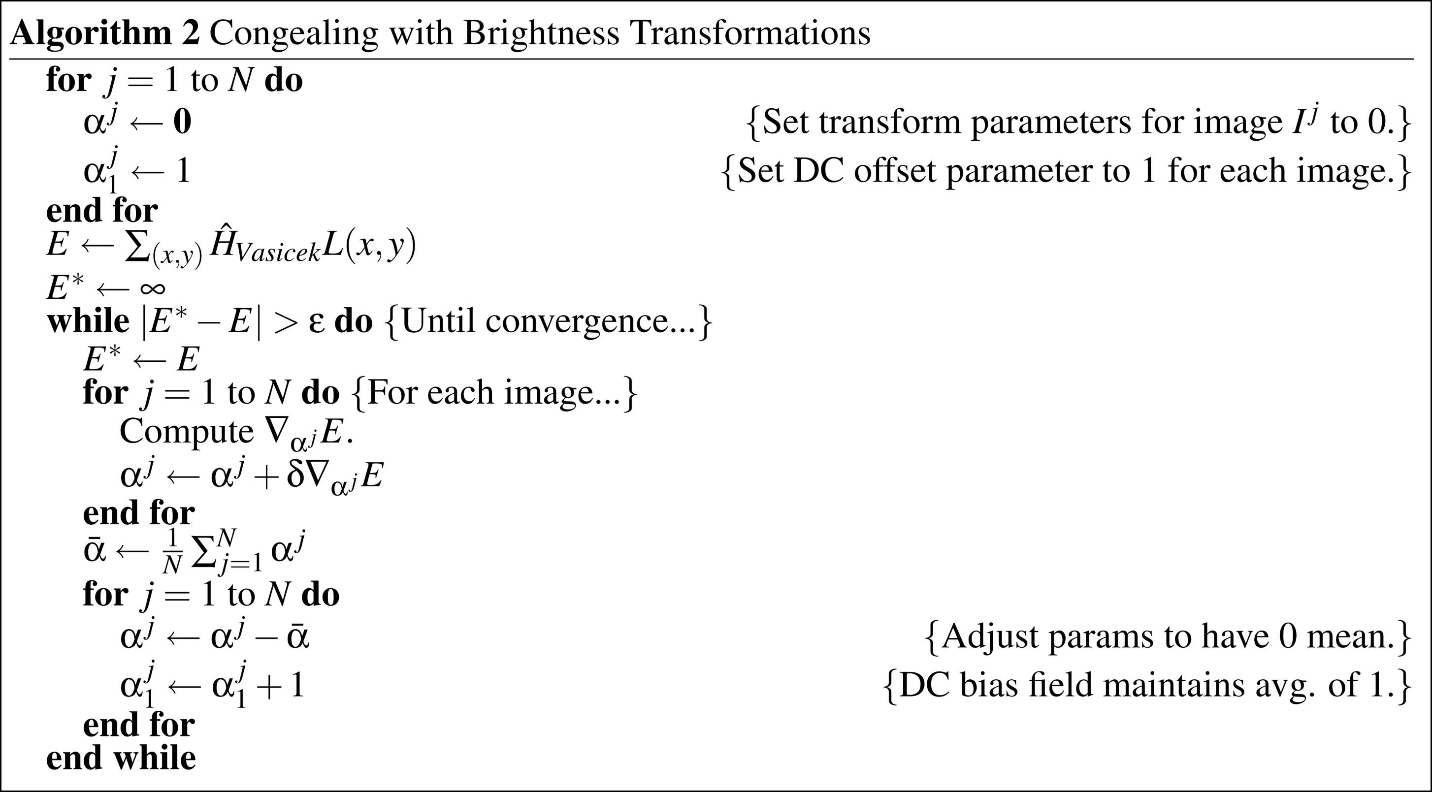 246 IEEE TRANSACTIONS ON PATTERN ANALYSIS AND MACHINE INTELLIGENCE, VOL. 28, NO. 2, FEBRUARY 2006 Fig. 12. Algorithm 2: Congealing with brightness transformations.