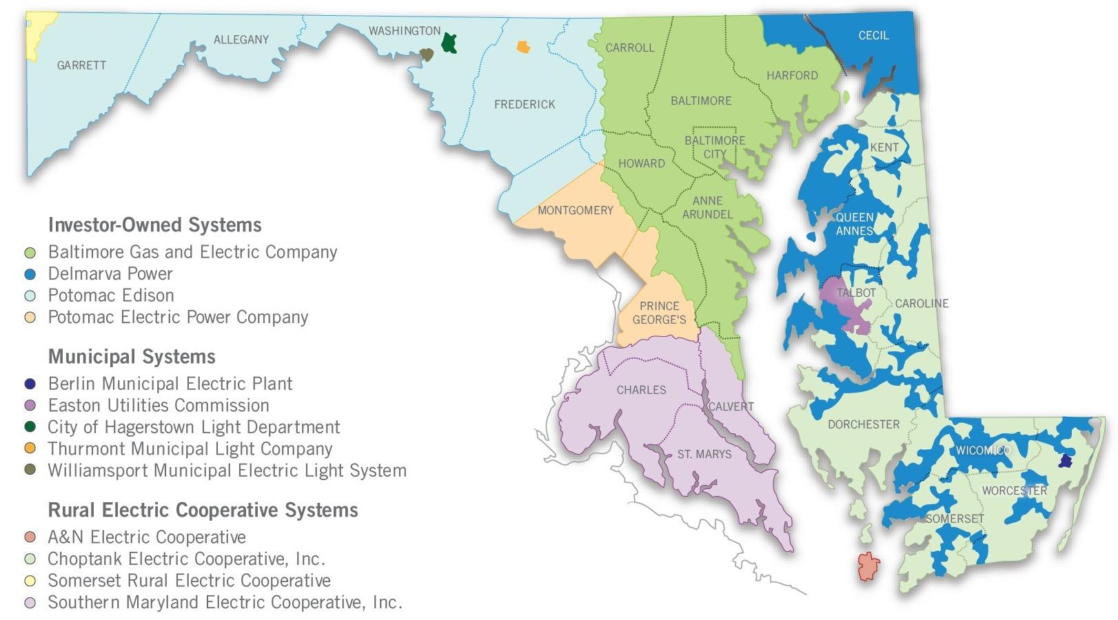 LEGAL AND REGULATORY FRAMEWORK Maryland s EDC Service Territories In exchange for the grant of a monopoly franchise, EDCs in Maryland are subject to regulation by the PSC.