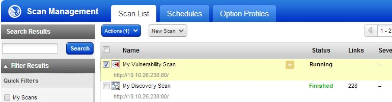 and select scan settings. Ready to start your scan?